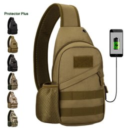 $enCountryForm.capitalKeyWord Australia - Protector Plus Kettle chest bag outdoor sports tactical multi-function shoulder bag with USB charging casual backpack