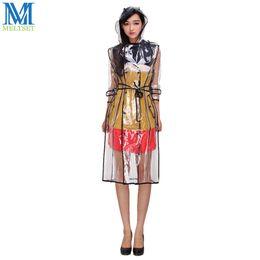 $enCountryForm.capitalKeyWord Australia - Fashion EVA Transparent Raincoat With Belt Long Rain Coat Women Jacket Waterproof Windbreaker Hooded Poncho Outdoors Rainwear