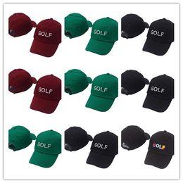 T shirTs creaTor online shopping - Newest Tyler The Creator Golf Hat Black Dad Cap Wang Cross T shirt Earl Odd Future