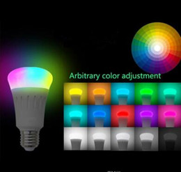 Multicolored Lights Australia - Smart LED Light Bulb Smartphone App Controlled Dimmable Multicolored 7W E27 WiFi Light Bulb Works with Alexa voice control