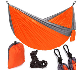 camps hammock swing NZ - Hammock 3 Colors 260*140cm Outdoor Parachute Cloth Field Camping Tent Garden Camping Hiking Swing Hanging 210T Nylon Spinning