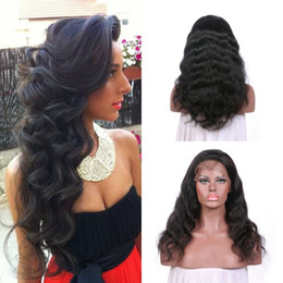 16 inch body wave wig 2019 - Brazilian Hair Lace Front Wig With Baby Hair Natural Color 8-26 Inch Can Be Dyed No Shedding Full Lace Wig In Stock G-EA