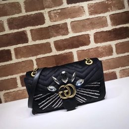 cartoon shape women bags Australia - 2019 Top Quality Brand design Letter diamond Heart Handbag V-shaped Velvet Shoulder Bag Women Genuine Leather 443497 Crossbody Bag