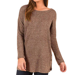 $enCountryForm.capitalKeyWord Australia - Women's sweater Plus Size Loose Sweater button up Side Long Sleeve Tunic Top korean style womens tops and blouses