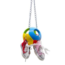 $enCountryForm.capitalKeyWord NZ - Parrot Toys Bird Toys Small Bell The Ball + Mini- Gym Shoes Bite String And Hang String Four Color Shoes You To Climb Gnaw