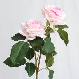 $enCountryForm.capitalKeyWord Australia - 5 pcs lot Artificial Rose Silk Flowers Small Bouquet Flores Home Party Spring Decoration Wedding Decoration Fake Flower DIY Wreath