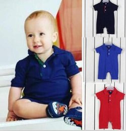 Polo Girls Australia - baby clothe 2019 Baby Boy Girl Rompers polo Embroidery Brand Infant Jumpsuit Casual Newborn Baby Clothes