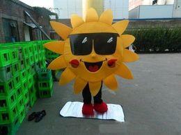 Factory Outlet Suits Australia - 2019 Factory Outlets Mr. Sun Sunflower Mascot Costume Suit Fancy Dress Free Shipping
