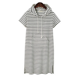 $enCountryForm.capitalKeyWord UK - Plus Size 4xl 5xl Women Hoodies A Pockett Dress Summer Short Black And White Zebra Striped Clothes Work Vestidos Y19071001