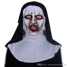 Halloween Party Latex Mask Australia - The Nun Cosplay Mask Costume Latex Prop Helmet Valak Halloween Scary Horror Conjuring Scary Toys Party Costume Props Wholesale-retail