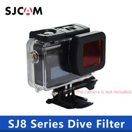 Wholesale SJ8 Dive Filter Waterproof Housing Case Lens Red Filter Protection For SJCAM SJ8 Air Plus Pro Action Camera SJCAM