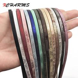 XCHARMS 1 Meter x 5mm Flache PU Lederband Seil Diy Schmuckzubehör Modeschmuck, Die Materialien für Armband
