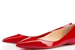 Sexy Flattering Dresses Australia - Luxury Designer Party Dress Red Bottom Sexy 66Pantent Leather Ballet Sexy Pointed Toe Flat Comfortable Women Slip On Casual Shoes Size 34-42