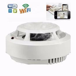 Smoke Detector Alarm Camera UK - Wifi 1080P smoke detector mini camera Real Smoke alarm Remote Control Video Recorder Home Security surveillance camera DVR