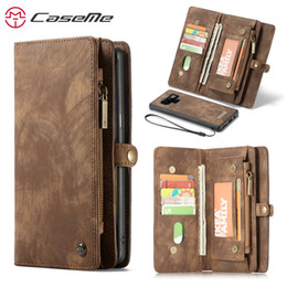 samsung note genuine leather NZ - wholesale Wallet Case For Samsung Galaxy Note 9 Luxury Genuine Leather Multi-functional Zipper Stand 2 in 1 Flip Leather Case Note9