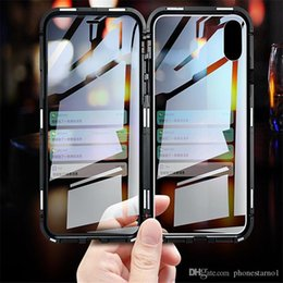 $enCountryForm.capitalKeyWord Australia - 2019 New Magnetic Adsorption Metal Phone Case for iPhone Xr Xs Max Full Coverage Aluminum Alloy Frame With Tempered Glass Back Cover