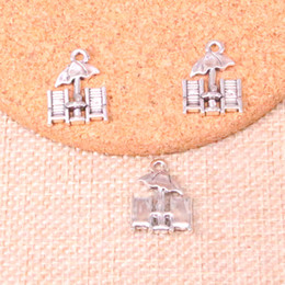 Umbrella charms online shopping - 92pcs Charms beach umbrella mm Antique Making pendant fit Vintage Tibetan Silver DIY Handmade Jewelry