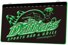 neon sign sports bar UK - Ls0378 0 Dobbers Sports Bar &Grill Rgb Multiple Color Remote Control 3d Engraving Led Neon Light Sign Shop Bar Pub Club