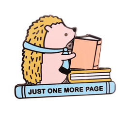 sayings animals UK - cute animal of the book says 'Just one more page' pin for library and make a great gift for the book lover