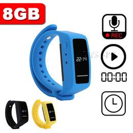 bracelet recorder 2019 - 20 hours Voice Recorder Bracelet 8GB USB Disk Voice Activated Digital Audio Sound Recording MP3 Player Time Display Wris