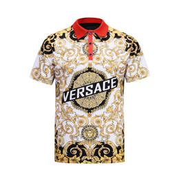 England T Shirts UK - 2019 Italian fashion classic luxury designer new men's polo shirt short-sleeved embroidered letters men's polo shirt Medusa t-shirt
