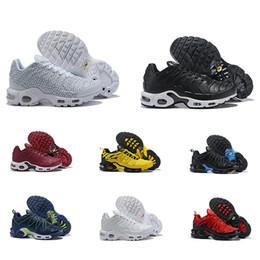 Venta al por mayor de 2019 Nuevo Wmns Plus Tn Se Hombre Zapatillas para correr Calidad Hihg Tn Plus Blanco Amarillo Rojo Azul Deportes Hombre Zapatillas Zapatillas de deporte