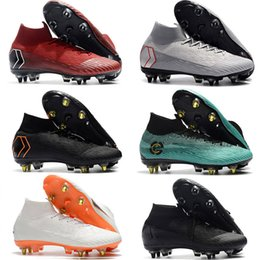 cr7 shoes kids Australia - New Mens High Ankle Football Boots Always Forward CR7 Mercurial Superfly VI 360 Elite SG AC Kids Shoes Superfly Neymar ACC Soccer Cleats
