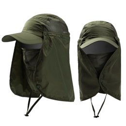 riding hats for men NZ - Men Women Sunshade Hat 360 Degree Sun Protective Windproof Riding Cap for Outdoor EIG88