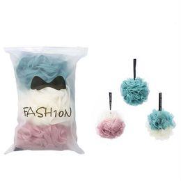 $enCountryForm.capitalKeyWord NZ - Wholesale Eco-friendly Mesh Bath Shower Sponge Loofahs Mesh Pouf Shower Ball 3 pcs per lot #214