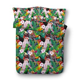 $enCountryForm.capitalKeyWord Australia - Green Leaves Bedspread Floral Coverlet Garden Bedding Set Girls Birds Flowers Comforter Quilt Cover Home Textile Duvet Cover Bird coverlet