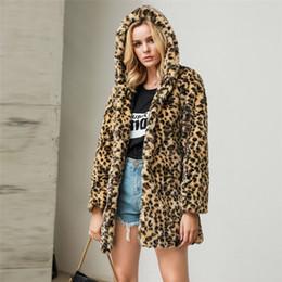 $enCountryForm.capitalKeyWord Australia - Plus Size Female Jacket Women Fashion Leopard Faux Fur Outwear Cardigan Loose Hooded Pocket Woman Winter Coats Abrigos Mujer Y5