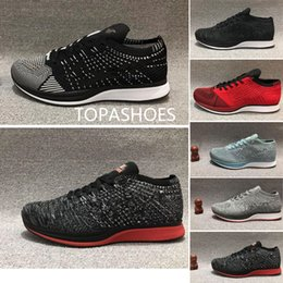 Wholesale Running Shoes racer Men Women Run Triple White Black Silver Gold Bullet Multicolor Athletic fly line Trainer Sport Sneaker Flywire