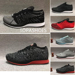 Discount white man sneakers - wholesale Running Shoes racer Men Women Run Triple White Black Silver Gold Bullet Multicolor Athletic fly line Trainer S