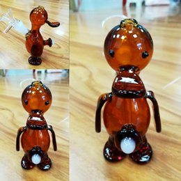 $enCountryForm.capitalKeyWord Australia - 5inch Amber Duck Glass Bongs Two Function Handheld Glass Bong Bowl Joint 14.4mm Filter Cup Pipes Beaker Smoking Water Pipess Free Shipping