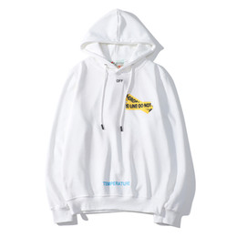 1653e28a79 Off white black hOOdie online shopping - Brand Designer Hoodie Mens OFF  Casual WHITE Hoodies Top