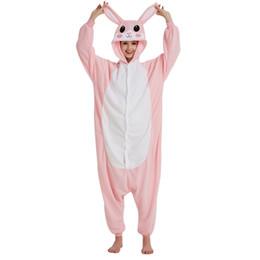 $enCountryForm.capitalKeyWord NZ - Pink Rabbit Pajamas Animal Onesie For Adults Women Men Overalls Fleece Winter Sleepwear Cosplay Party Jumpsuit Kigurumi Onepiece
