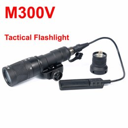 Wholesale M300V Tactical Flashlight Gun Light With Constant Strobe momentary Output For mm Picatinny Rail