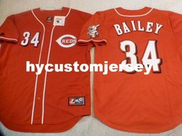 $enCountryForm.capitalKeyWord Australia - Cheap custom MAJESTIC #34 HOMER BAILEY SEWN Baseball Jersey W RED LEG PATCH New XL Mens stitched jerseys Big And Tall SIZE XS-6XL For sale