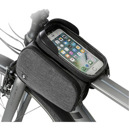 $enCountryForm.capitalKeyWord Australia - 1pc Cycling Bike Crossbeam Cell Phone Bag Waterproof Phone Touch Screen Bike Front Frame Top Tube Cycling Pouch