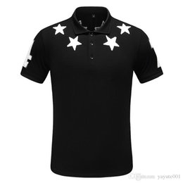 cotton polyester blend t shirts 2020 - 18ss Men's short sleeves polo Designer shirt T-shirt Embroidered PoloShirts For Mens luxury Polo man Cotton Short S