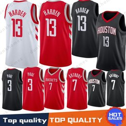 0fac95c3d38 Houston 13 James Harden jerseys Rockets 3 Chris Paul 7 Carmelo Anthony men  Embroidery Logos Basketball 100% Stitched Jersey