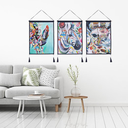 Scroll Paintings Australia - Decor Wall Scroll Hanging Tapestry Fashion Boho Animals Hanging Painting,Sofa Background Hanging Cloth,Corridor,Porch,Electric Meter Box