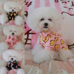 $enCountryForm.capitalKeyWord Australia - Pet Dog Clothes Pink Black Chicken Pink Black Strawberry Nightwear (Four Seasons) Teddy Pet Dog Clothes