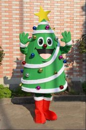 tree costumes Australia - 2019 hot sale Christmas Tree mascot costume with big yellow star and colorful balls newest holiday carnival fancy dress