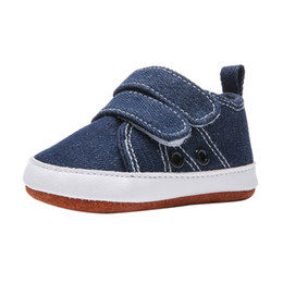 Chinese  Casual Toddler Kids Canvas Sneakers Baby Boy Soft Sole Crib Shoes 0-18 Months anti-slip soft sole Casual sneakers manufacturers