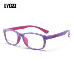 b67d97f7bd46 LYCZZ prescription Children Glasses Frame TR90 Silicone eyewear Kids  Flexible Protective boy girl eyeglasses Diopter Eyeglasses