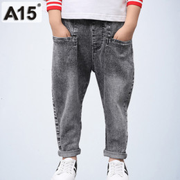 Tutu Sizes For Kids Australia - Kids Boys Pants Big Teenage Boys Jeans Long Length 2019 Spring Toddler Casual Children Trousers for Boys Clothes Size 10 12