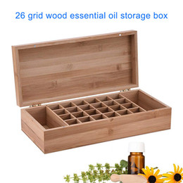 bamboo oils Australia - 26 Slots Bamboo Wood Essential Oil Bottle Portable Storage Box LBShipping