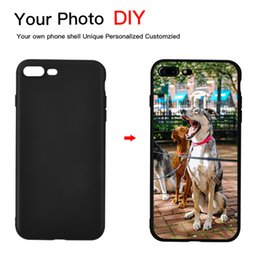 Apple iphone pictures online shopping - Black DIY Photo Phone case Custom picture Soft TPU Black Cover For iPhone X XR XS Max Plus S Plus S SE Coque