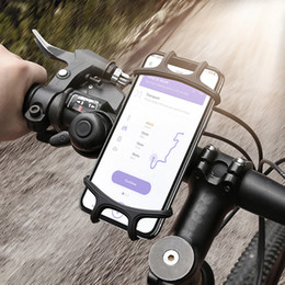 Wholesale Adjustable Bicycle Phone Holder For iPhone Samsung Universal Mobile Cell Phone Holder Bike Handlebar Clip Stand GPS Mount Bracket
